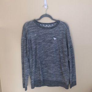 Pink grey long sleeve shirt